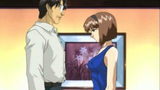 Dark-skinned Haired Anime Dame Getting Boobies And Cooter Taunted Through A Mature Stud