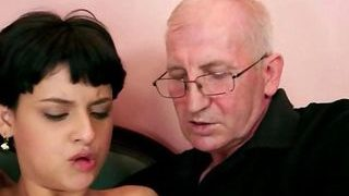 Nubile Fuckin' With A Ultra-kinky Elderly Stud