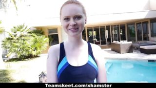 Cfnmteens – Pallid Sandy-haired Pummeled Via The Swimming Trainer